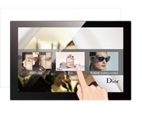 Interactive digital displays with touchscreen