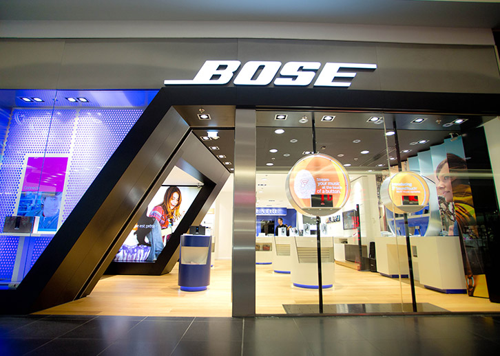 digital displays with open frame for Bose