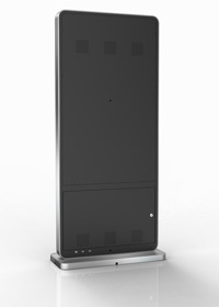 Freestanding digital displays - Back view