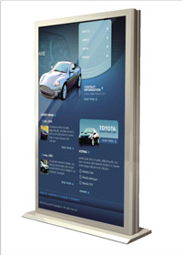 Freestanding digital displays - Large format