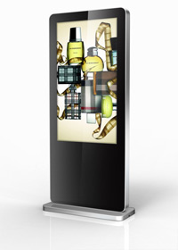 Freestanding digital displays - Front view