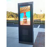 Outdoor digital displays freestanding