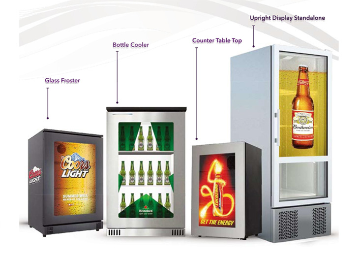 Transparent Digital Displays for fridges