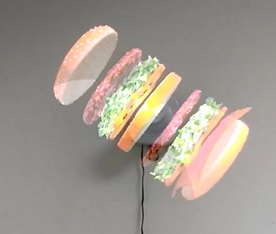 3D Holograms for Advertising with fan on