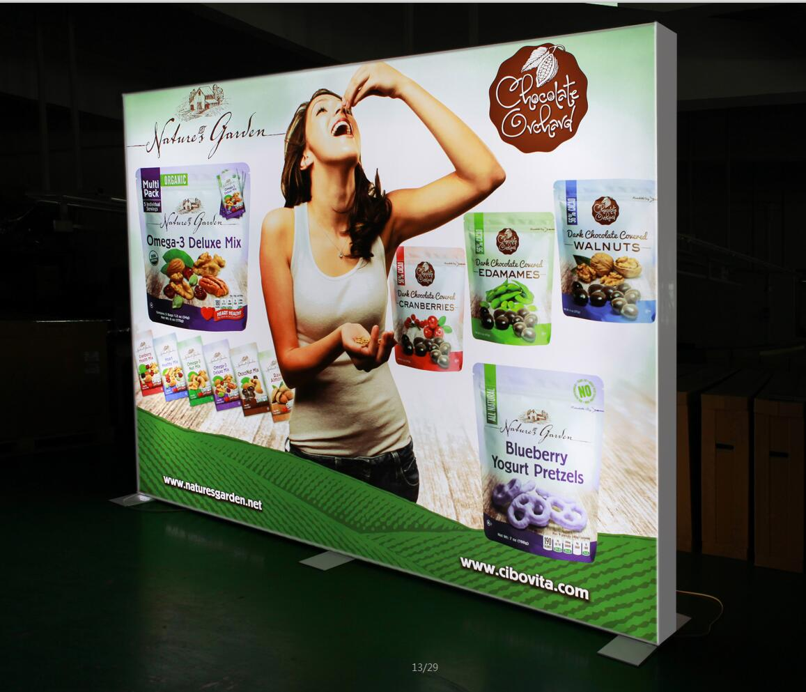 LED Light Box - Fabric light box with print