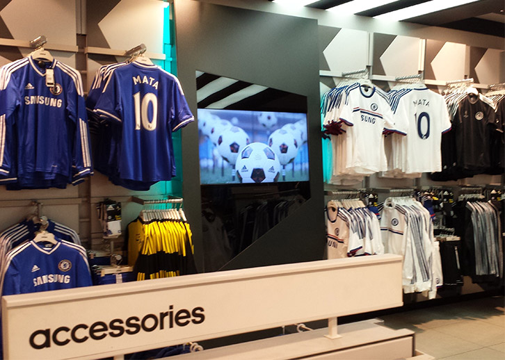 digital displays with open frame for Adidas