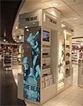Electrlouminescent panels for Burberry display stand