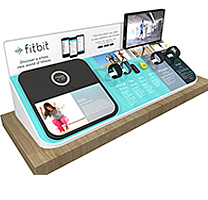 Digital screens with metal frame for Fitbit