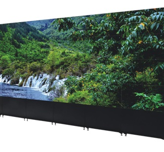 Digital Video Walls with Seamless frame