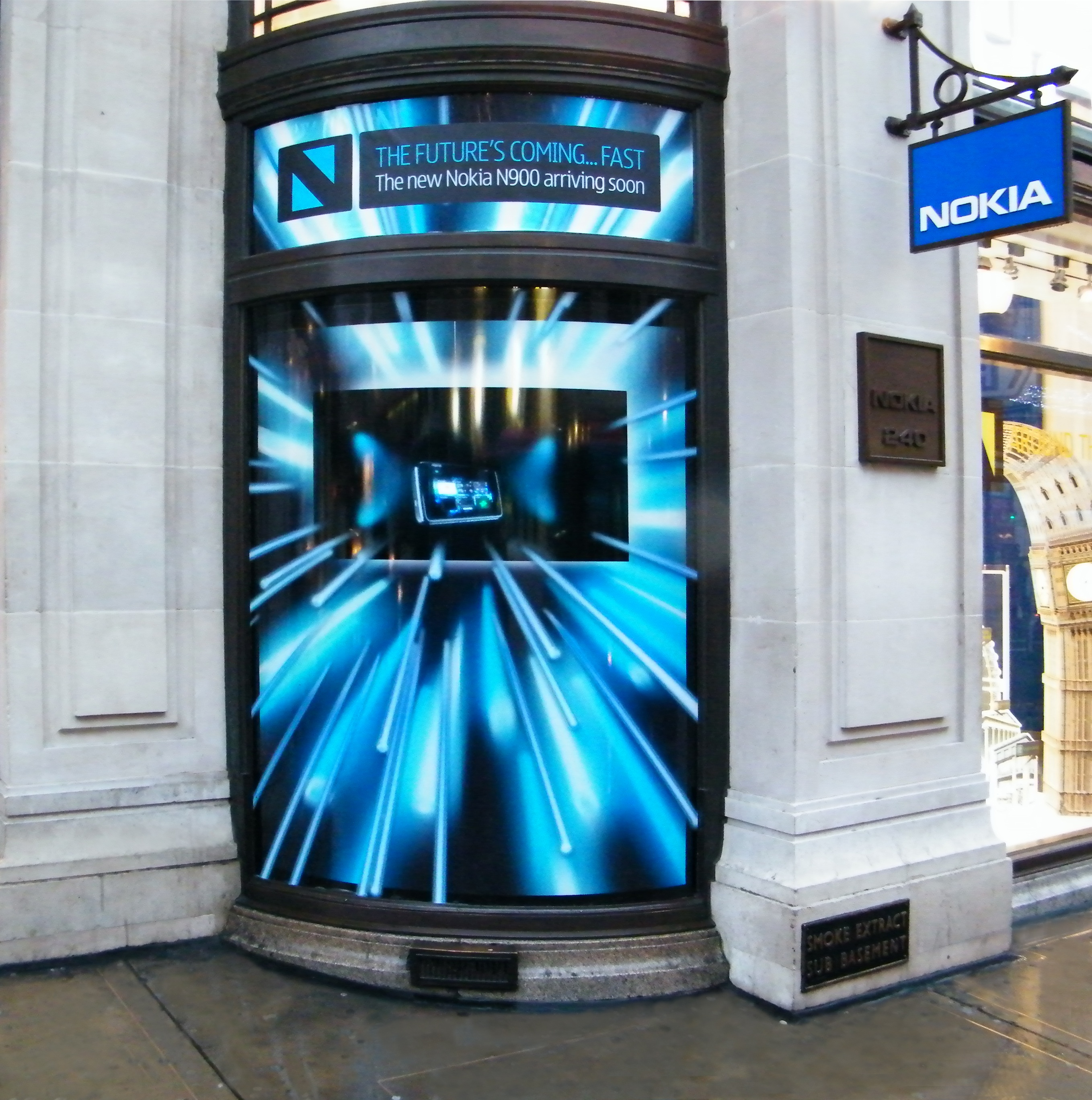3D Holographic Window Displays for Nokia