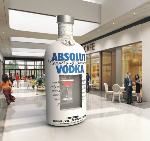 3D Holograms Holocube Displays for Absolut