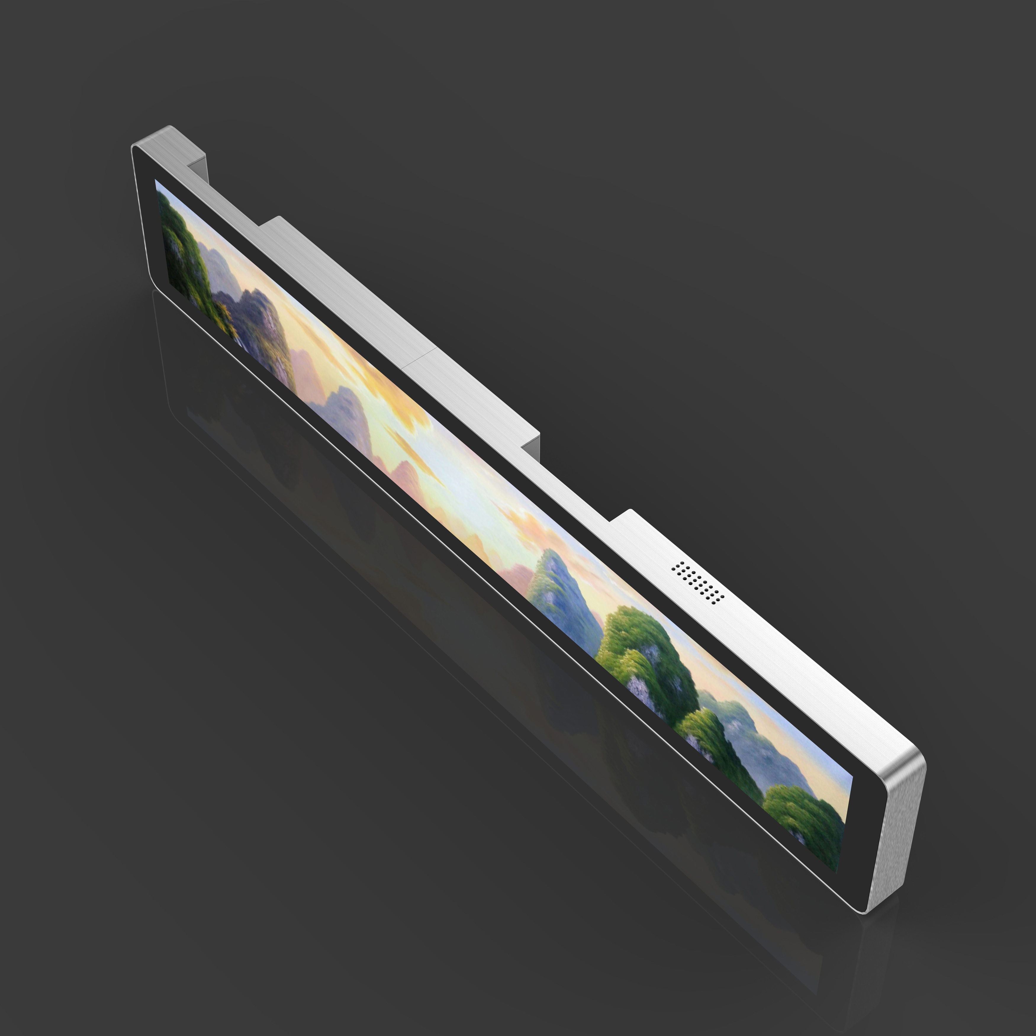 Ultra-wide stretched Digital Displays for shelf-edge display