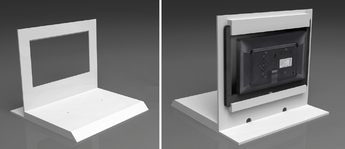 digital photo frame for counter display