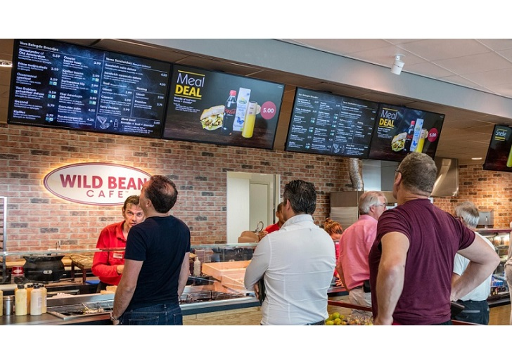 Digital video wall for Wild Bean Cafe